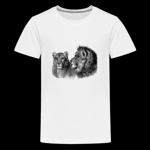 Löwenpaar - Teenager Premium T-Shirt