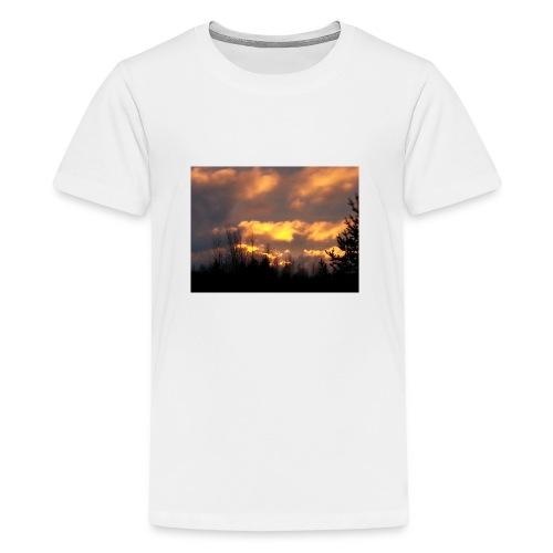 Iltarusko - Teinien premium t-paita