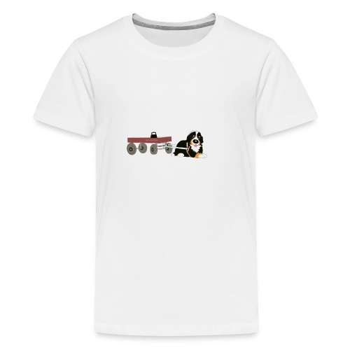 bernerdrag hona - Premium-T-shirt tonåring