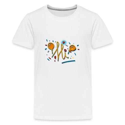 Hi Sunny Doodle fun design by FabSpark - Teenage Premium T-Shirt