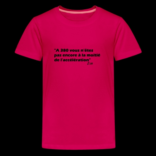 380 noir - T-shirt Premium Ado