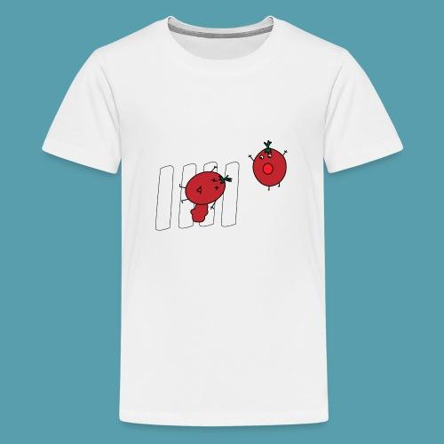 tomaatit - Teinien premium t-paita