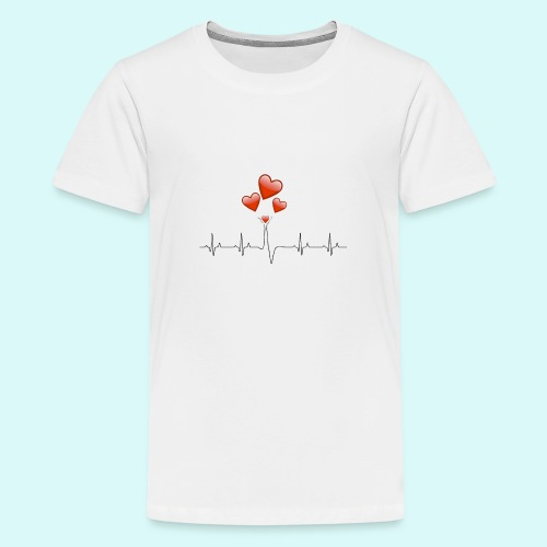 electrocardiogramme - T-shirt Premium Ado