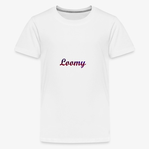 Loomy_Text_Red_And_Blue - Teenage Premium T-Shirt