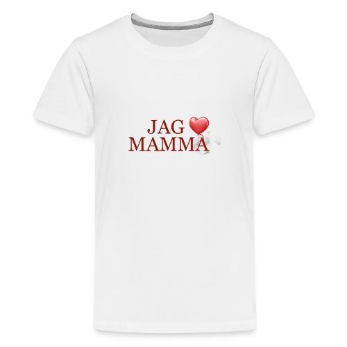 Jag älskar mamma - Premium-T-shirt tonåring