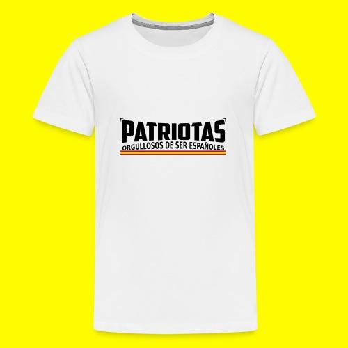 Patriotas españoles logo - Camiseta premium adolescente