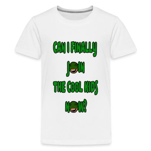 Cool Kids White T-Shirt - Teenage Premium T-Shirt