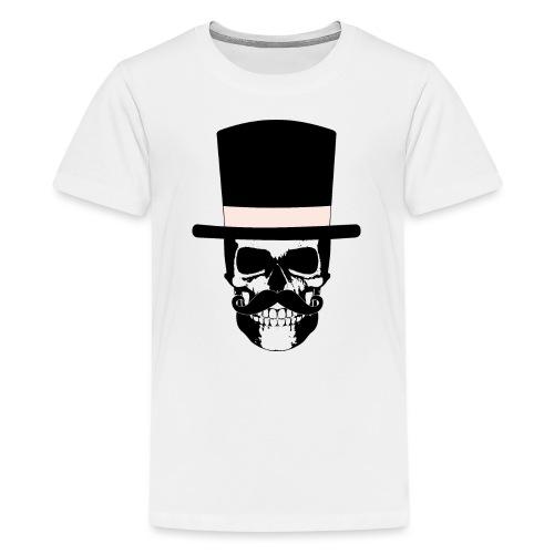 Gentleman Skull mit Zylinder und Schnauzer - Teenager Premium T-Shirt