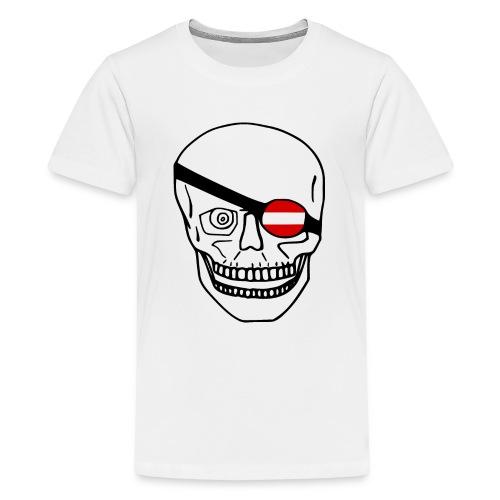 Österreich Flagge - Schädel - Teenager Premium T-Shirt