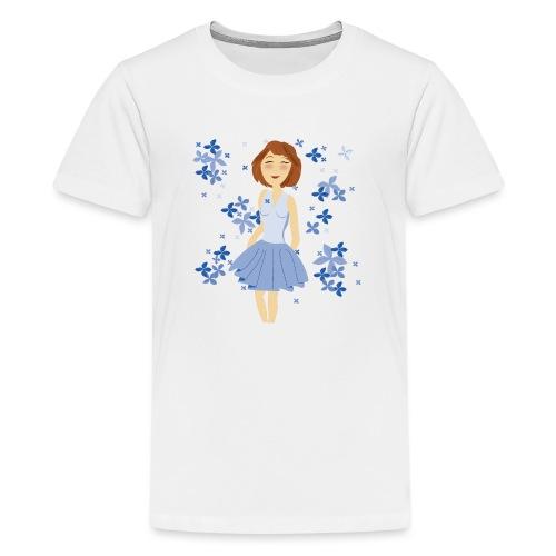 Bloemenmeisje - T-shirt Premium Ado
