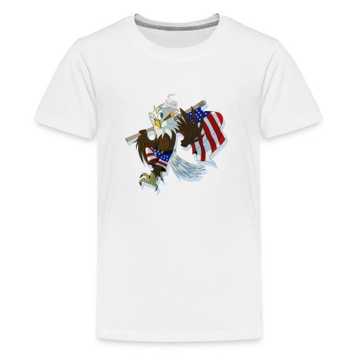 eaglenuggets transparent copy png - Teenage Premium T-Shirt
