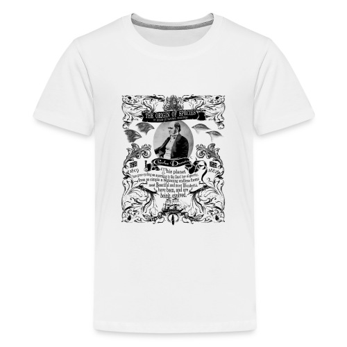 Charles Darwin Origin of Species - Teenage Premium T-Shirt