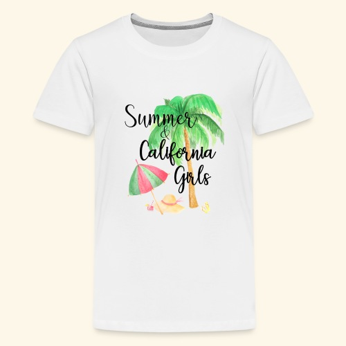 California Girl at Beach - Teenager Premium T-Shirt