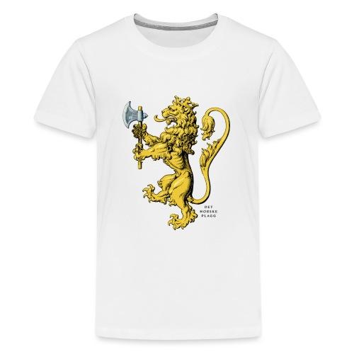 Den norske løve i gammel versjon - Premium T-skjorte for tenåringer
