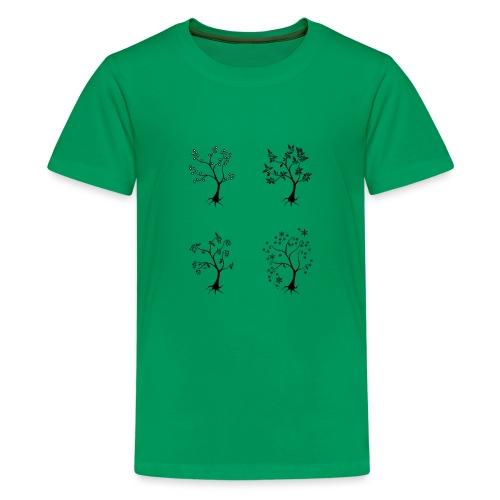Vuodenajat - Teinien premium t-paita
