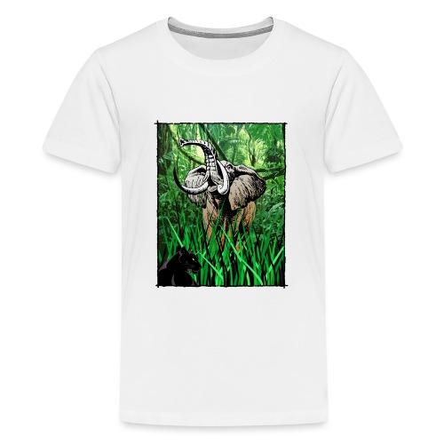 Waldelefant in Afrika - Teenager Premium T-Shirt