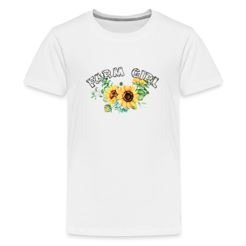 Farm Girl - Teenage Premium T-Shirt
