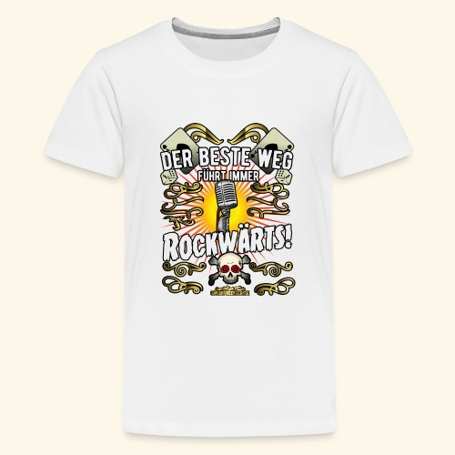 Rock Music Shirt ROCKWÄRTS - Teenager Premium T-Shirt