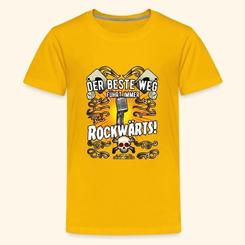 Rock Music Shirt ROCKWÄRTS - Teenager Premium T-Shirt