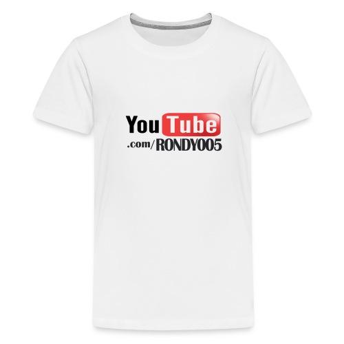 16482 2CYouTubecom RONDY005 - Teenage Premium T-Shirt