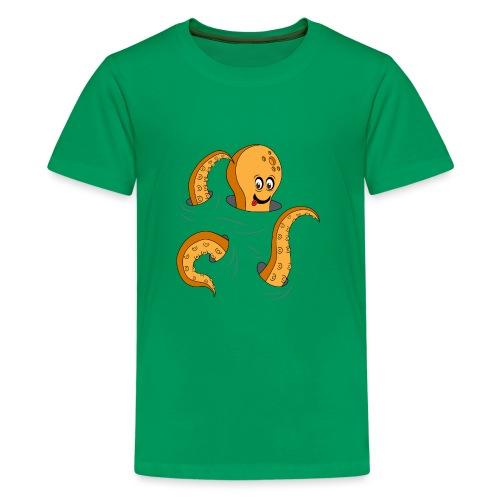 Simpatico polpo curioso - Maglietta Premium per ragazzi
