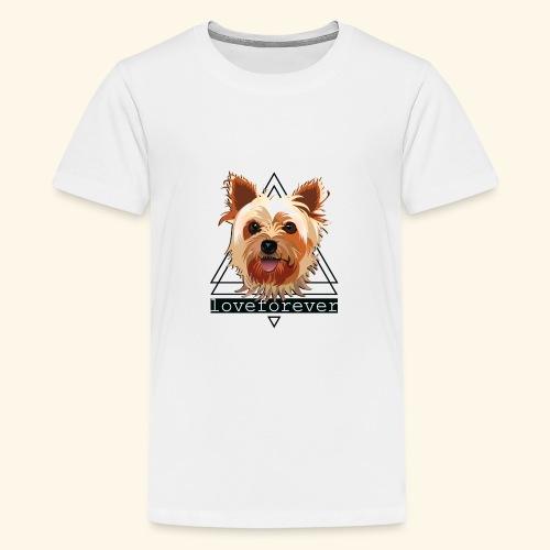 YORKIE LOVE FOREVER - Camiseta premium adolescente