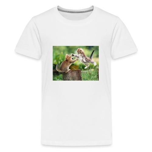 katt 1 - Premium-T-shirt tonåring