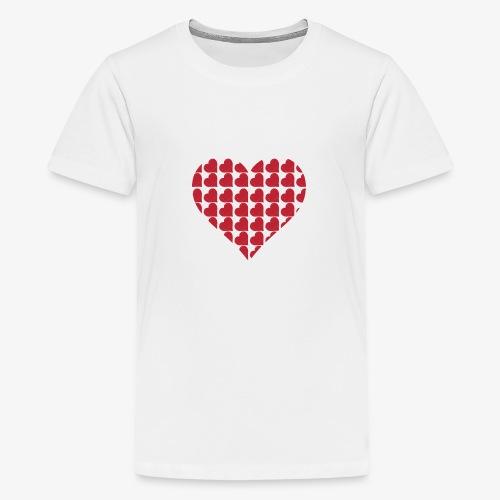 Cuoricini-love-valentine-day-heart - Maglietta Premium per ragazzi