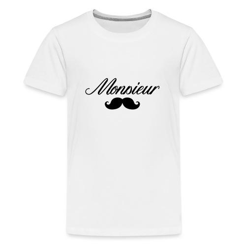 monsieur moustache logo - T-shirt Premium Ado