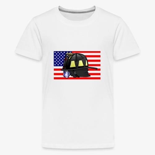 Casque pompier américain - T-shirt Premium Ado