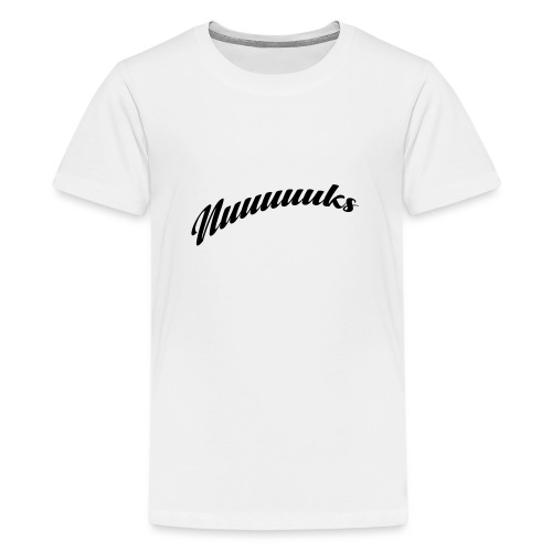 nuuuuks logo - Teenager Premium T-shirt