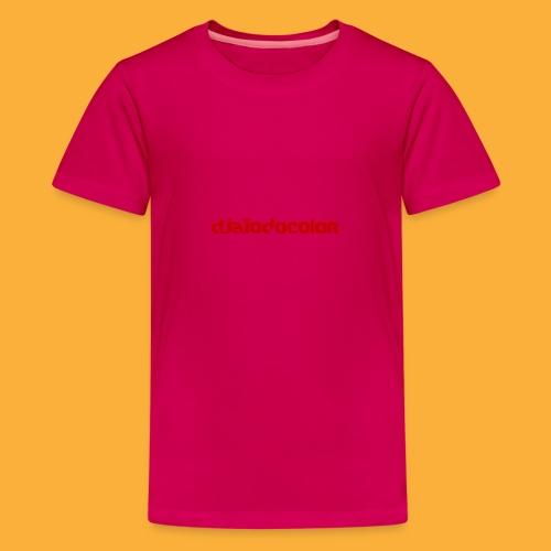 DJATODOCOLOR LOGO ROJO - Camiseta premium adolescente