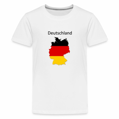 Deutschland Karte - Teenager Premium T-Shirt