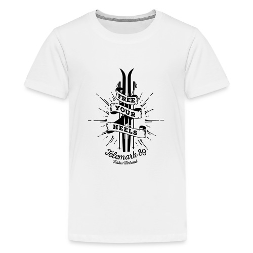 FreeYourHeels_merge - Teinien premium t-paita