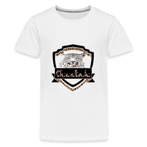 Cheetah Shield - Teenage Premium T-Shirt