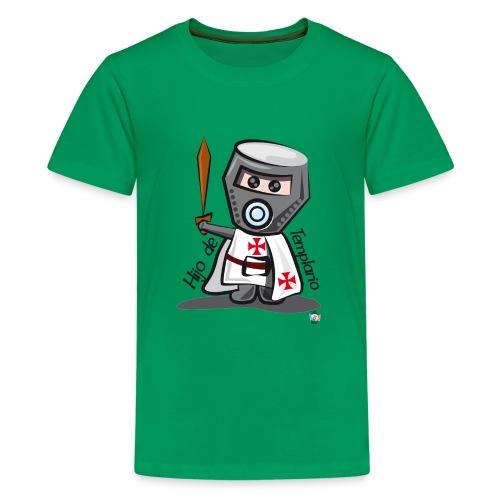 Hijo de templario (Casco) - Camiseta premium adolescente
