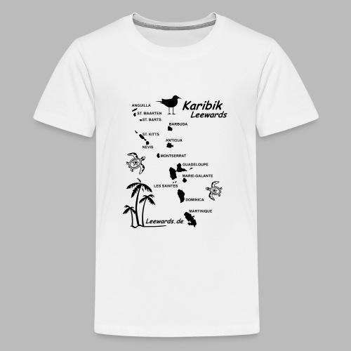 Karibik Leewards Segeln Leward Islands - Teenager Premium T-Shirt