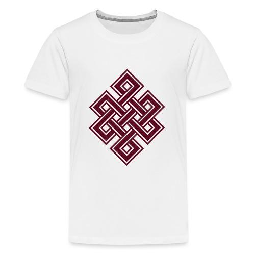 Endlos Knoten, Tibet, Unendlich, Buddhismus, Glück - Teenager Premium T-Shirt
