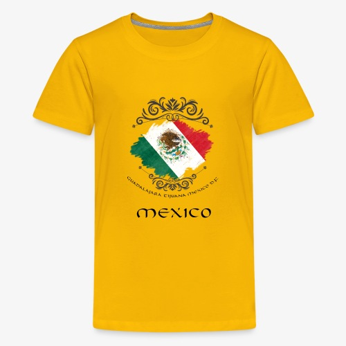 Mexico Vintage Bandera - Teenager Premium T-Shirt