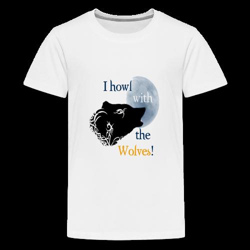 Wolf howl - Teenager Premium T-Shirt