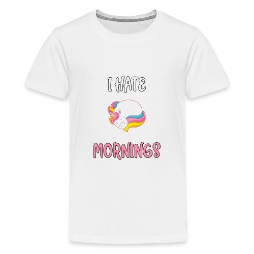 Sød enhjørningst-shirt - Teenager premium T-shirt