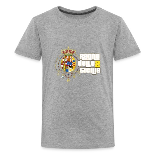 regno delle 2 sicilie testo bianco - Maglietta Premium per ragazzi