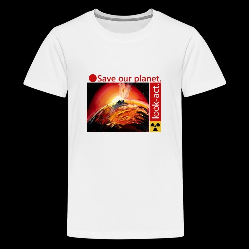 Save our planet. Fukushima Theme - Teenager Premium T-Shirt