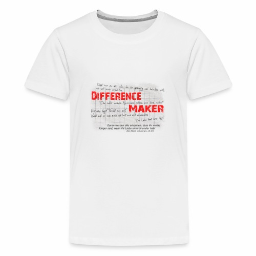 Difference Maker dunkel - Teenager Premium T-Shirt