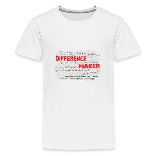 Difference Maker dunkel - Teenager Premium T-Shirt