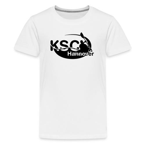 KSC Logo einfarbig - Teenager Premium T-Shirt