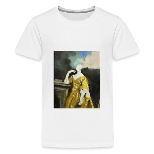 Donna sognatrice, in giallo. Arte da indossare. - Maglietta Premium per ragazzi