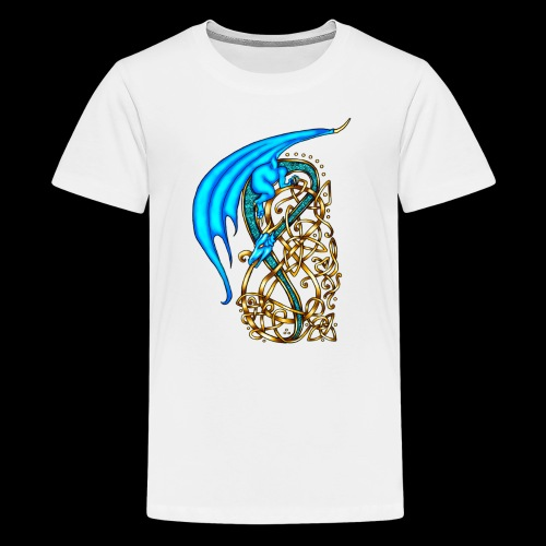 Celtic Dragon - Teenage Premium T-Shirt
