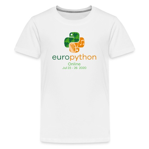 EuroPython 2020 - Vertical Color Logo - Teenage Premium T-Shirt