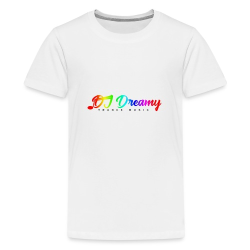 DJ Dreamy Logo PNG Gradient 1 - Teenage Premium T-Shirt